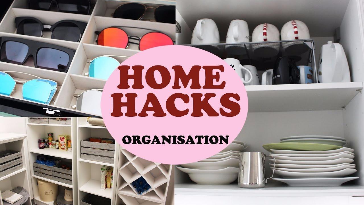 home hacks mit einfachen tricks ordnung schaffen. Black Bedroom Furniture Sets. Home Design Ideas